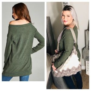 Sweaters - 🍂LAST ONE!🌻Wide Neck Brushed Tunic